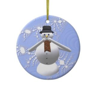 No Evil Snowman Christmas Tree Decoration Christmas Tree Ornament
