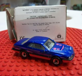 Matchbox Superfast   T bird Turbo Coupe (1987) in White Mailing Box