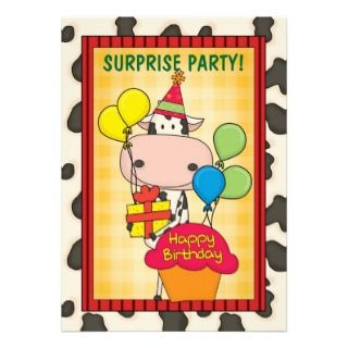 Its a Roundup Cows   Cattle Drive Celebration Custom Announcements