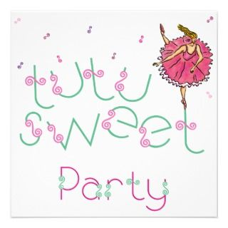 25x5.25 Tutu Sweet Party Invite