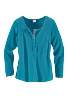 Damen Shirt mit Paspel türkis Übergrößen Neu 48   52   56