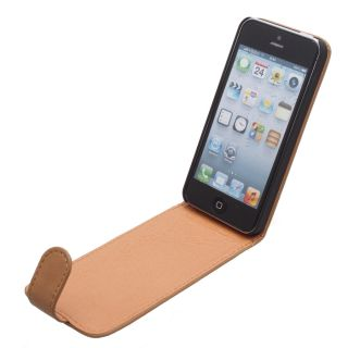iGard® iPhone 5 Alcantara Flip Design Leder Tasche Case Hülle Etui