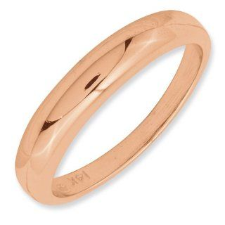 14 K Gelb Gold Rose Gold Poliert Band Ring