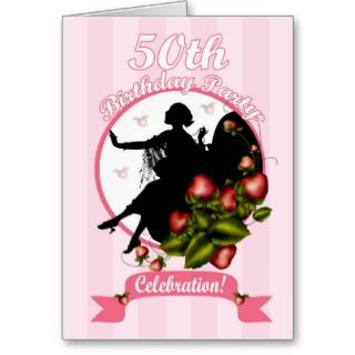 50th Birthday Party Invitation Greeting Cards