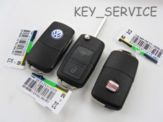 1J0 959 753 AG/CT 434 MHZ NEW VW SEAT TWO 2 BUTTON FLIP KEY FOB