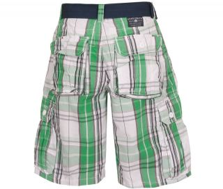 NEW Mens Ecko Unltd. Kingside Cargo Belted Short W 38 Green