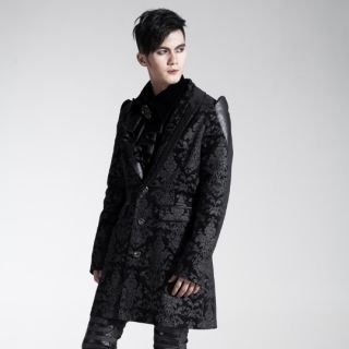 Y448 Punk Visual kera Gothic Printing Men Long coat dress jacket