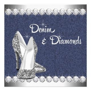 Denim and Diamonds Birthday Party Invitations invitations by Champagne