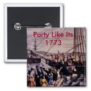Boston_Tea_Party_Currier_colored, Party Like ItPinback Button