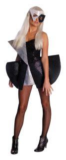 Damen Kostüm Lady GaGa schwarze Pailletten Verkleidung Größe XS