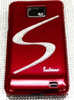 SAMSUNG GALAXY S2 i9100 rot STRASS BLING spiegel chrom Cover hard Case