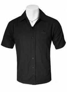 Adidas Herren Sommer Hemd Cardigan schwarz (M XXL) kurzarm Men T Shirt