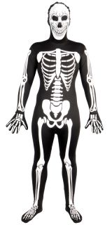 Skelett SKINZ Lycra Spandex Body Hautenger Ganzkörper Anzug M Max