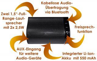Karcher BT 4160 mobiler Bluetooth Stereo Lautsprecher (2x 2,5 Watt RMS