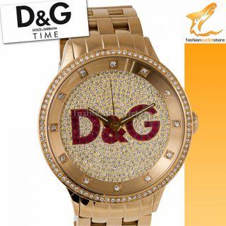 DW0377 Prime Time XXL Big DOLCE & GABBANA D&G Uhr Watch Gold Unisex