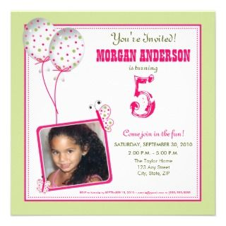 Whimsical Butterflies Birthday Party Invite sage