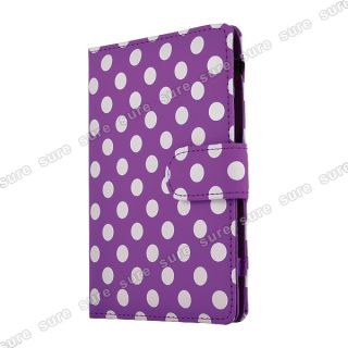 Polka Dot Kunstleder Tasche Case Hülle Cover f. 6  Kindle