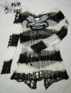 MODE VISUAL PUNK ROCK GOTHIC Kera EMO Streifen Pullover