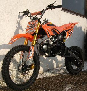 Dirt Bike Enduro dirtbike Cross Pit Bike 125 ccm orange