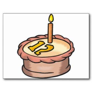 Twleve Year Old Happy Birthday Postcard