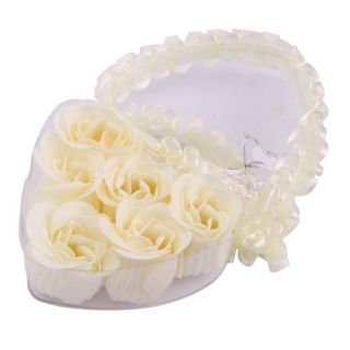 PCS White Rose Flower Petal Soap Wedding Favors Gift