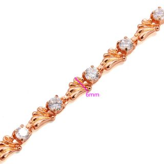 Goldschmuck Schmuck 750/18K Rose Gold vergoldet Armband Zirkon