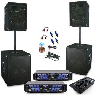 DJ PA Disco Bühne Party Karaoke Musiksystem Boxen Mixer