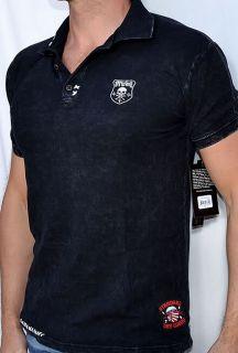 Affliction REMIX Mens Pique Polo Shirt   A4710   NEW   Black Lava