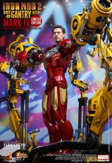 IRON MAN 2 Mark IV Suit Up Gantry Masterpiece 12 Actionfigur Sideshow