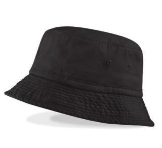 Retro Vintage Mens Bucket Hat, Black or Navy, Angling/Festivals
