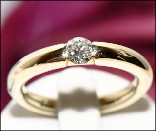wertvoller 0,25ct Brillant Solitär Gold Ring auch für Ehe und