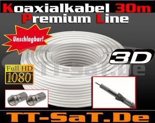 30 m Sat Kabel Digital HDTV 3D Premium Class Koaxialkabel 30m