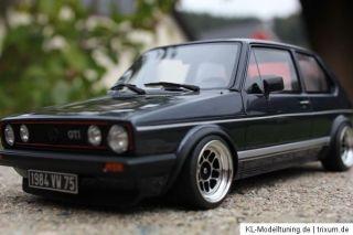 VW Golf I GTI Umbau Tuning 118 Youngtimer KL echt Alufelgen ATS