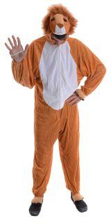 Löwen Verkleidung für Erwachsene Karneval Halloween Tier Kostüm One