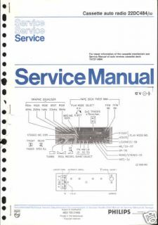 Philips Original Service Manual für CAR 22 DC 484