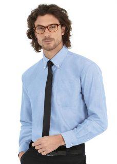 HERREN Oxford Shirts Hemden Langarm Übergrößen S 6XL 5 Farben