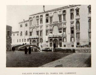 1907 Print Palazzo Foscarini S Maria Del Carmine Venice Italy Grand