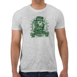 Mutt Faced Green Irish Ale Beer Logo Gifts Tee Shirt