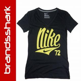 Nike T Shirt Shirt Damen schwarz, NEU