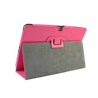 Pink Leather Folio Case Cover with Stand for Acer Iconia Tab A510