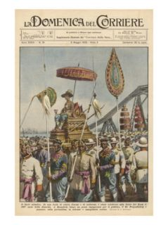 King Prajadhipkop of Siam Celebrates the 150th Year of His Dynasty Giclee Print