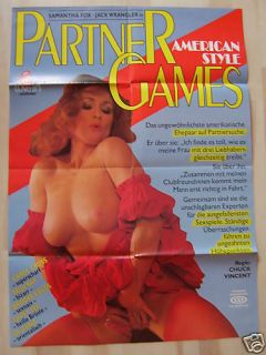 PARTNER GAMES   Samantha Fox   Filmplakat A1   SEX