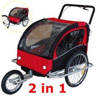 Kinderanhänger 2 in 1 Fahrradanhänger Kinderfahrradanhänger Jogger