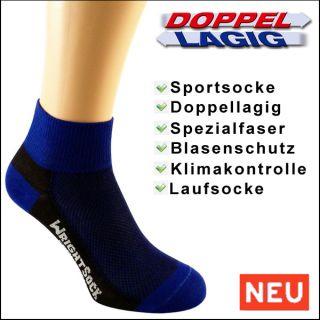 Profi Sportsocke COOLMESH Gr. M   anti blasen blau schwarz Socken