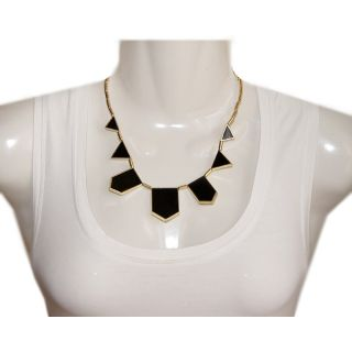 Neu Statement Kette Choker Collier Gold schwarz Blogger Celebrity