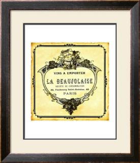 Wine Label Art Print