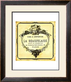 Wine Label Art Print