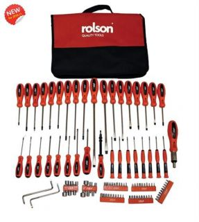 ROLSON TOOLS 100 PIECE SCREWDRIVE AND BIT SET KIT TORX PRECISION