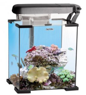 NANO REEF 20 L NERO AQUAEL MINI ACQUARIO COMPLETO MARINO DI BARRIERA