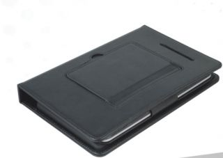 Black Bluetooth Wireless keyboard Leather Case Stand Cover for Google